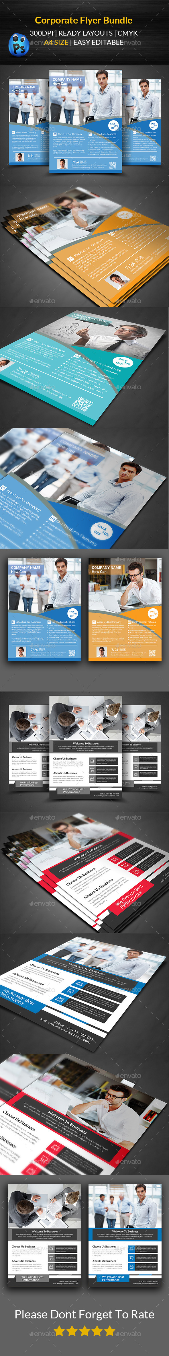 GraphicRiver Corporate Flyer Bundle Templates 11769793