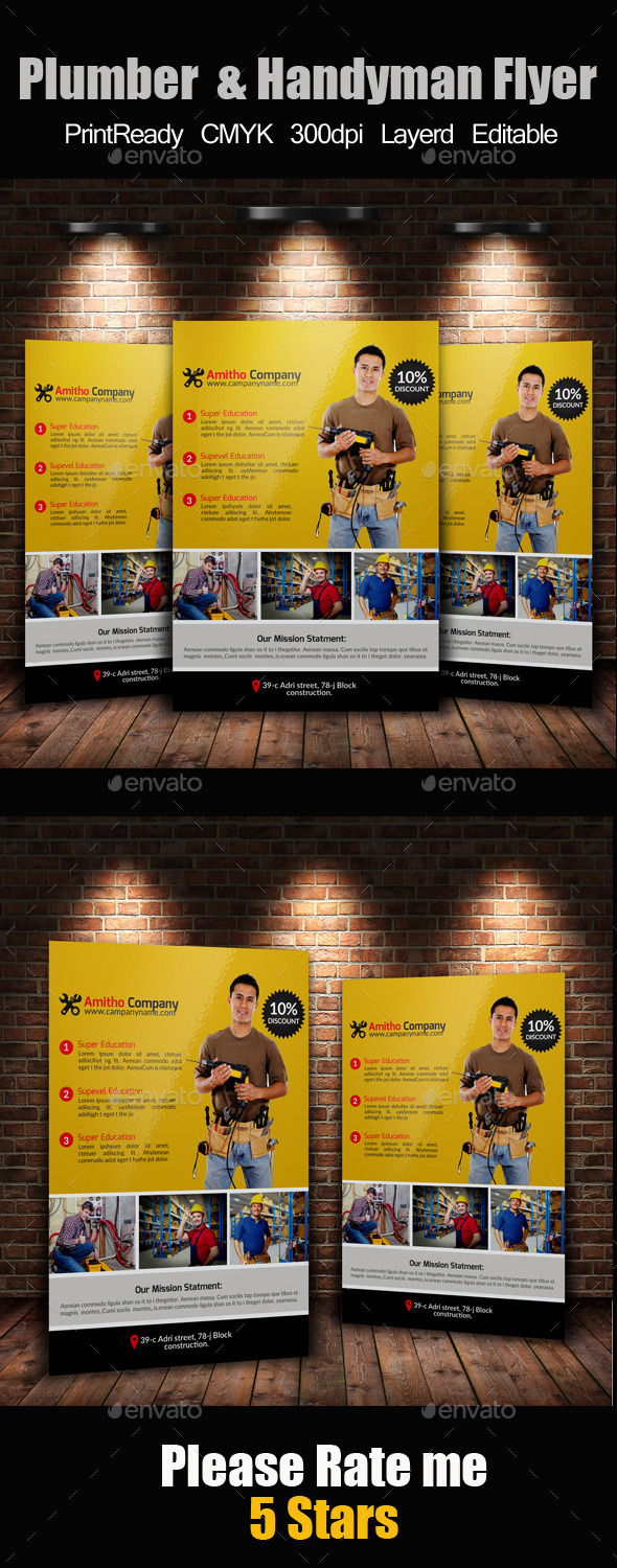 GraphicRiver Handyman & Plumber Services Flyer 11769847