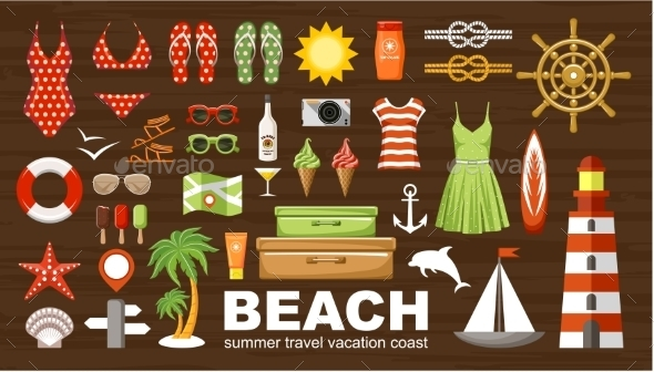 GraphicRiver Summer Beach Set 11769926
