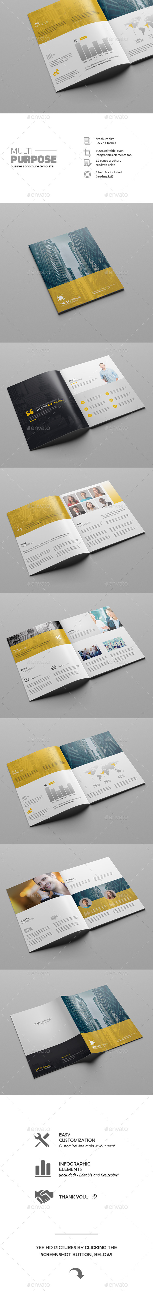 GraphicRiver Multipurpose Business Brochure Template 11769942