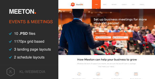 ThemeForest Meeton Conference & Event PSD Template 11770020