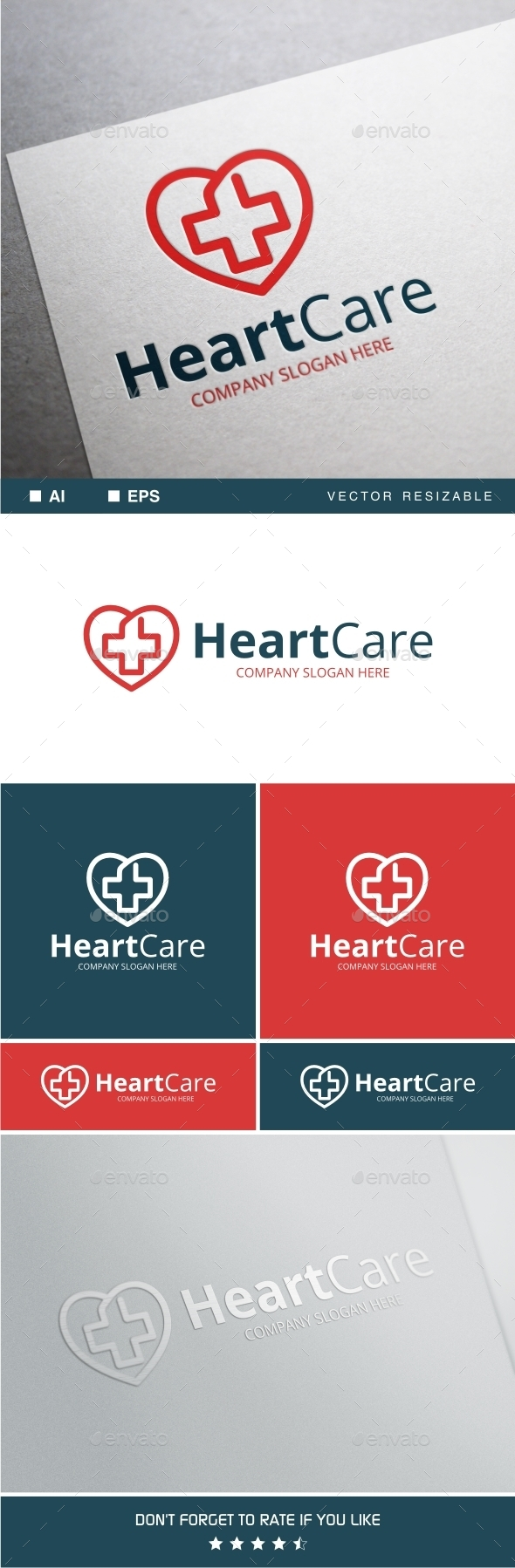 GraphicRiver Heart Care Logo Template 11770160