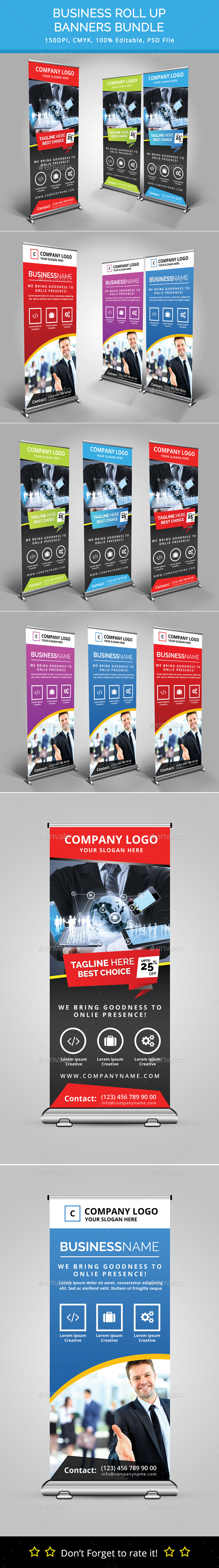 GraphicRiver Bundle of 2 Rollup Banners 11770364