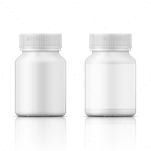 GraphicRiver White Plastic Bottle for Pills 11770457