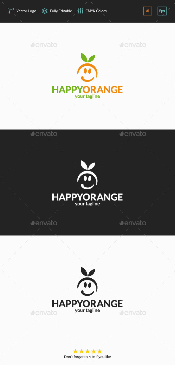 GraphicRiver Happy Orange Logo 11770589