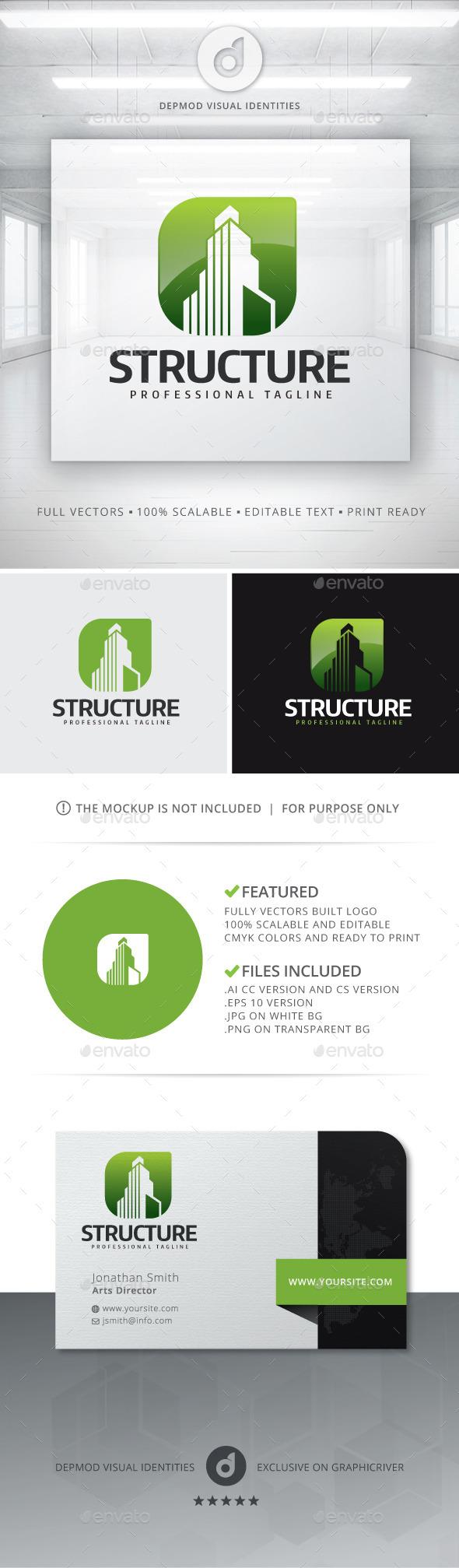 GraphicRiver Structure Logo 11770688