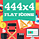 444x4 Flat Icons - GraphicRiver Item for Sale