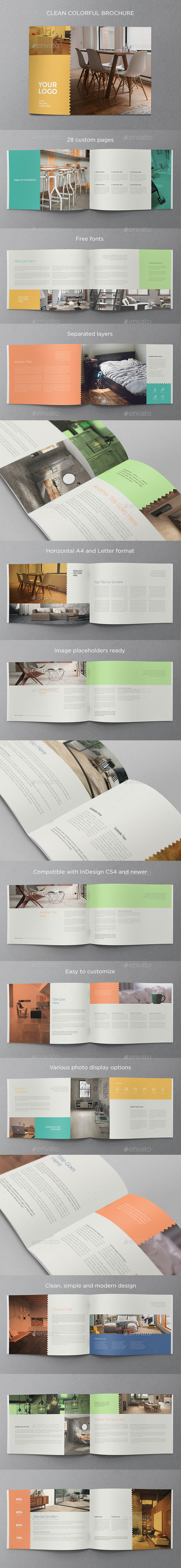 GraphicRiver Clean Colorful Brochure 11770727