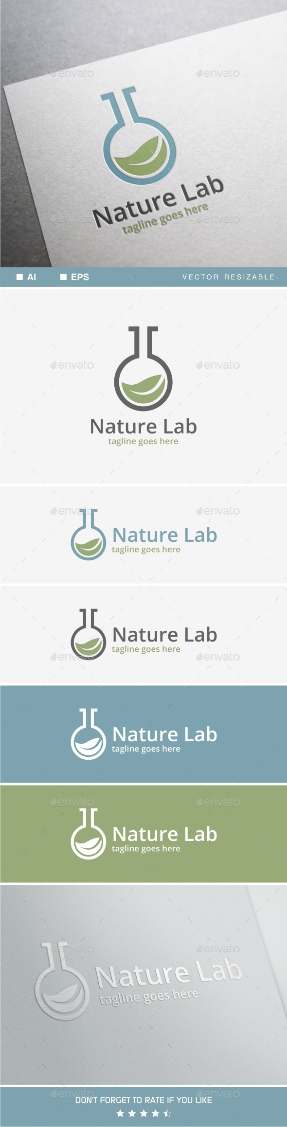 GraphicRiver Nature Lab Logo 11770741