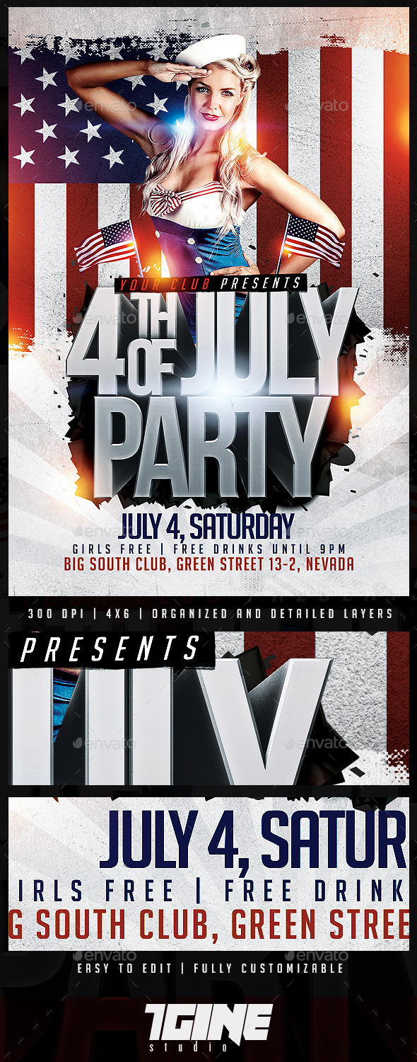 GraphicRiver 4th of July Flyer Template 11770771