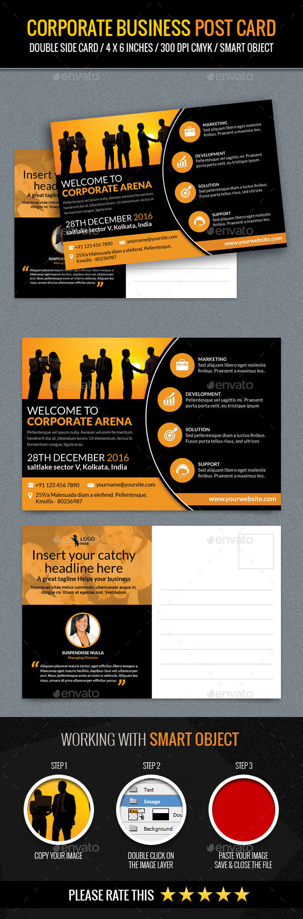 GraphicRiver Corporate and Business Post Card Template 11770811