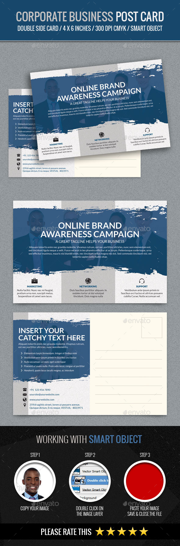 GraphicRiver Corporate and Business Post Card Template 11770838