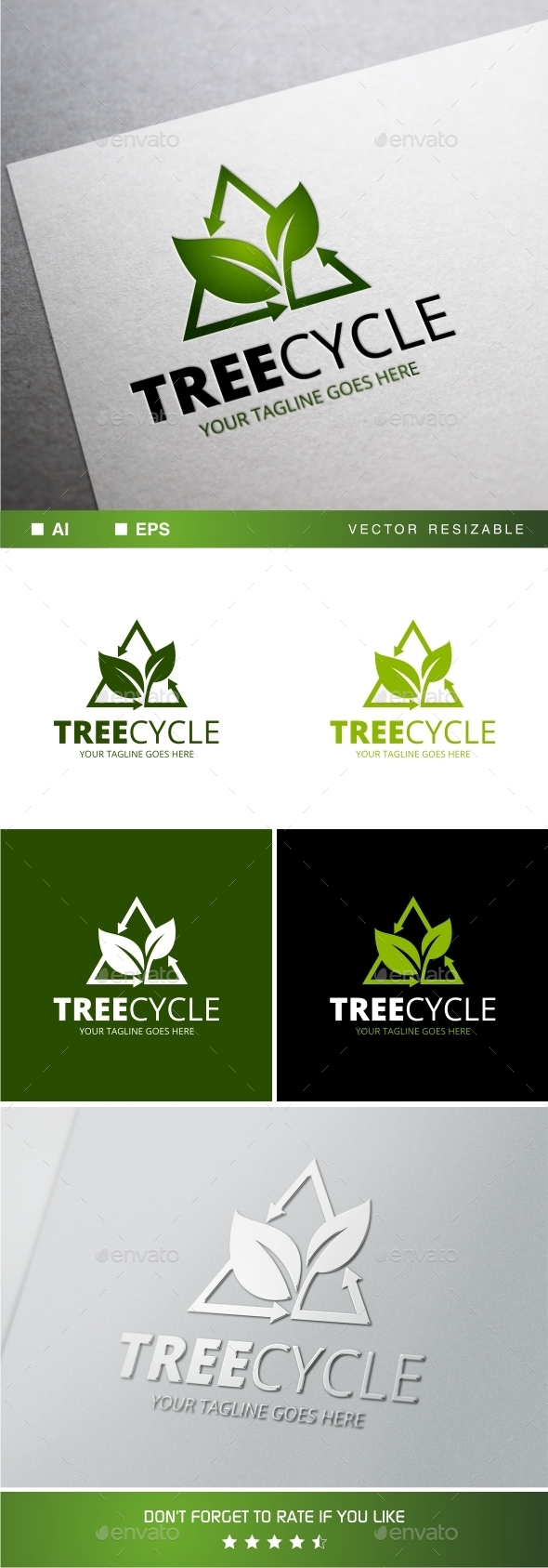 GraphicRiver Treecycle Logo Template 11770850