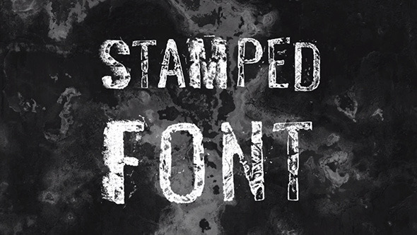 Stamped Font