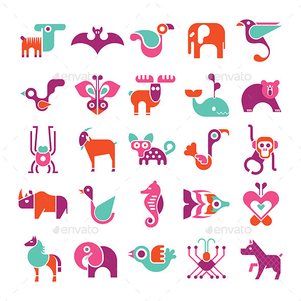 GraphicRiver Animal Icon Set 11770869