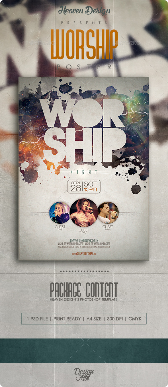 GraphicRiver Worship Poster 11770891