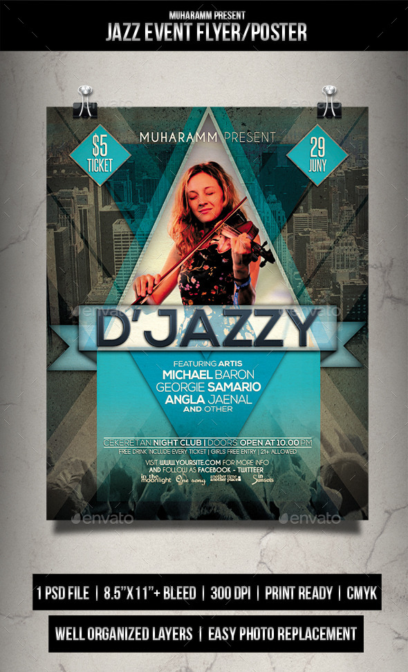 GraphicRiver Jazz Event Flyer Poster 11770901