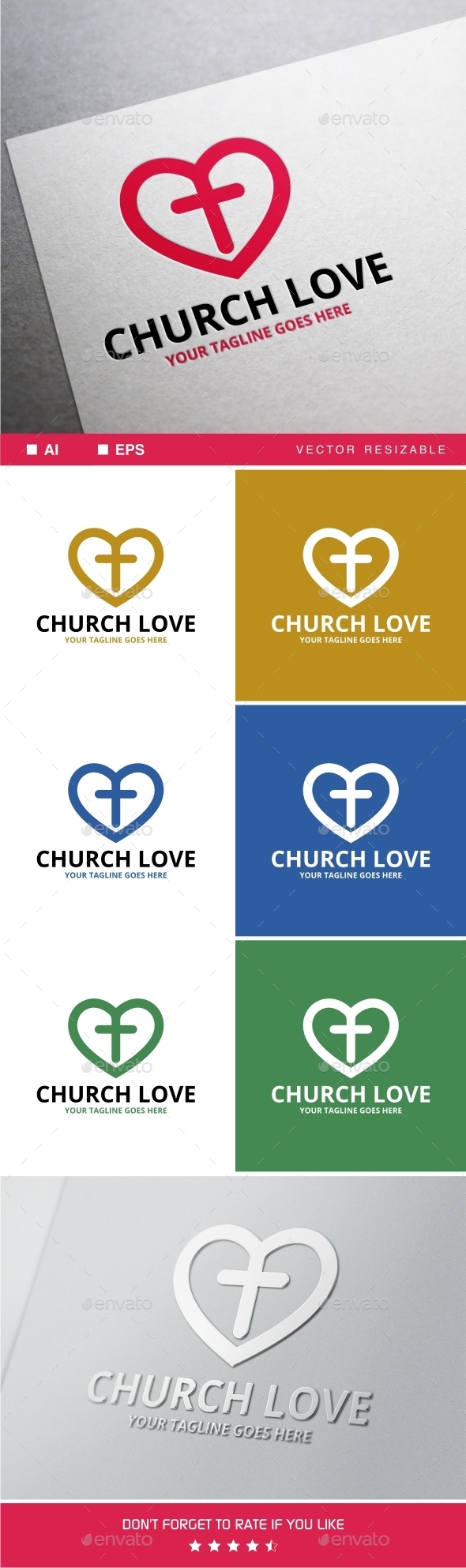 GraphicRiver Church Love Logo 11770919