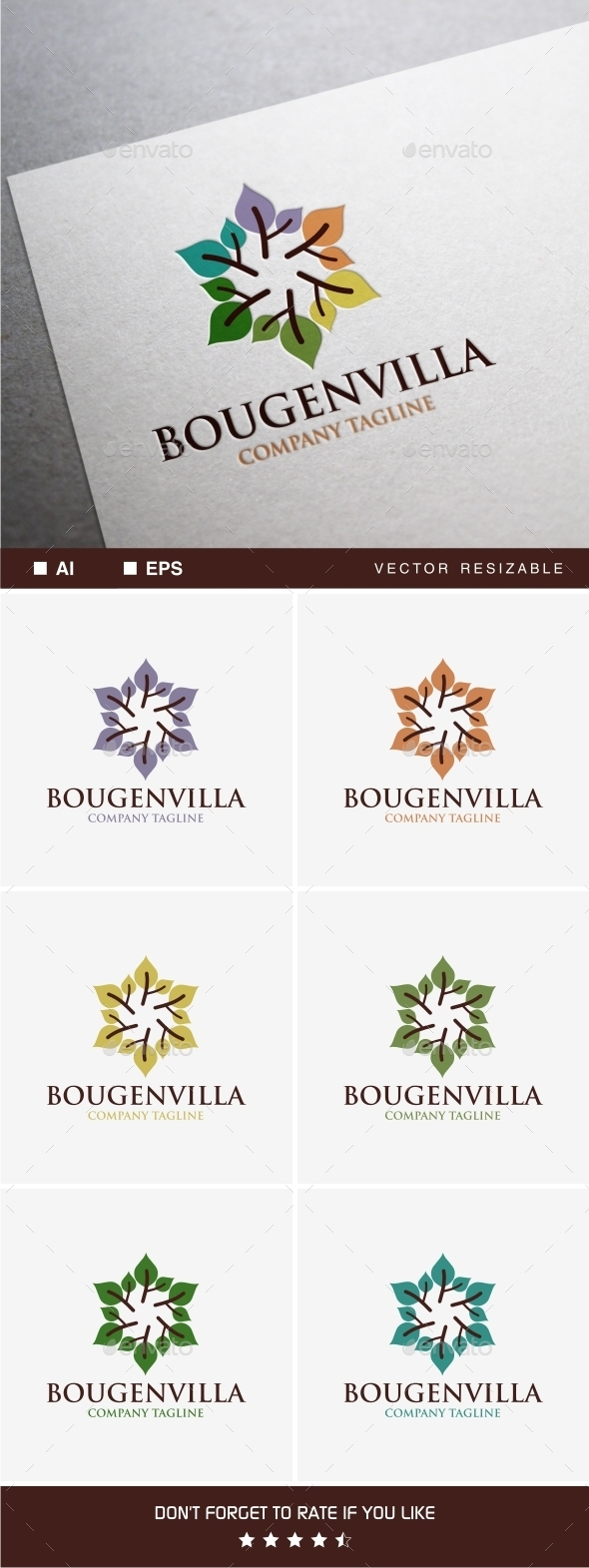 GraphicRiver Bougenvilla Logo 11770961