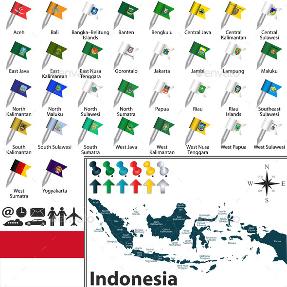 GraphicRiver Map of Indonesia 11771016