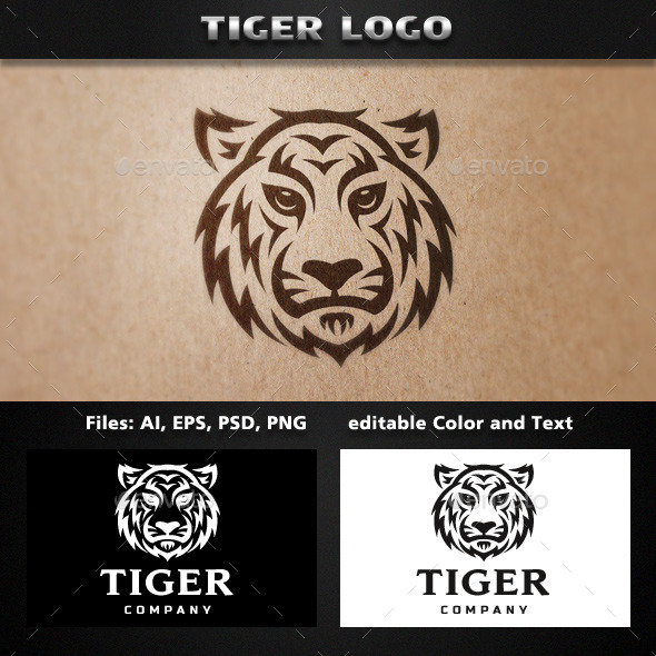 GraphicRiver Tiger Tribal Logo Template 11771066