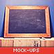 Blackboard / Chalkboard Mock-ups with Chalk Action
