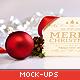 Clean and Elegant Christmas Greetings Mockups