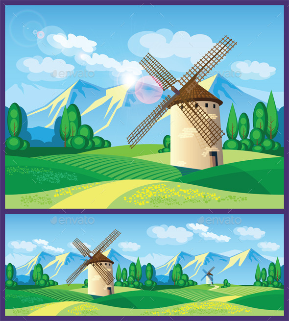 GraphicRiver Windmills 11771480