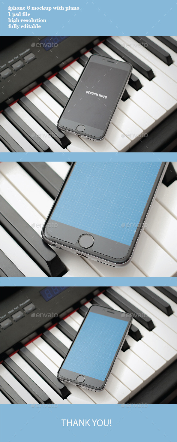 GraphicRiver photorealistic iphone 6 on the piano 11771789