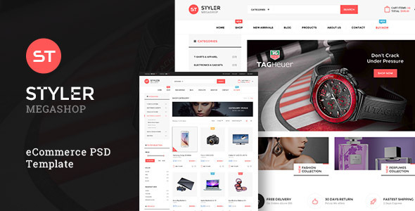 ThemeForest Styler Mega Shop PSD Template 11771818