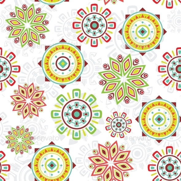 GraphicRiver Vector Colorful Folk Seamless Pattern Background 11772140