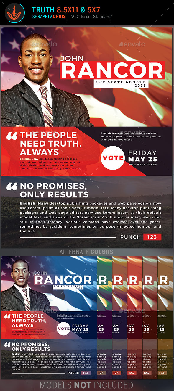 GraphicRiver Truth Political Flyer Template 11772171