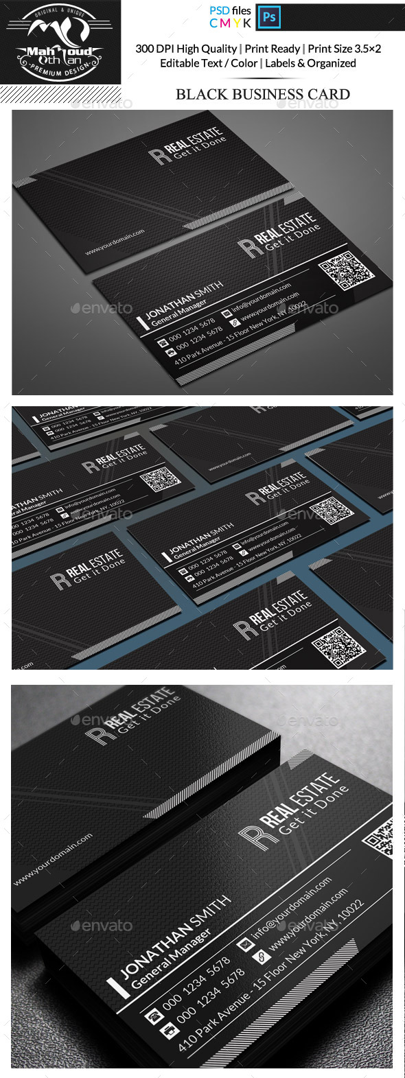 GraphicRiver Black Business Card 11772301