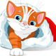 Kitten Getting Out From Santa Hat - GraphicRiver Item for Sale
