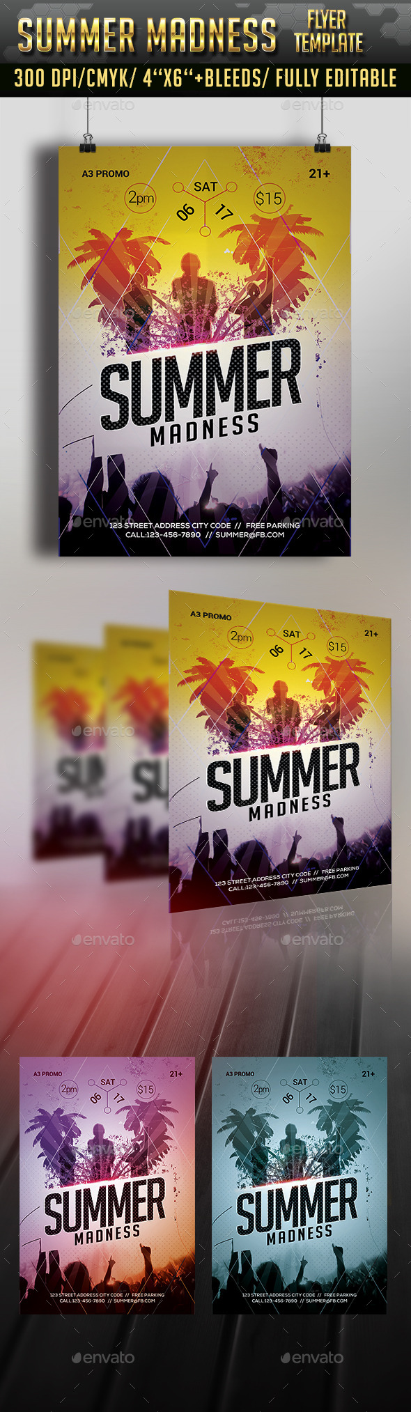GraphicRiver Summer Madness Flyer Template 11772328