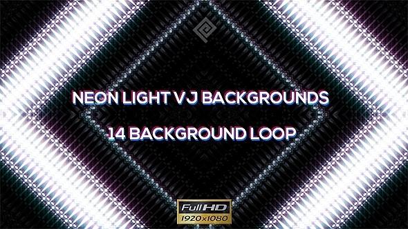 Neon Fashion Lights VJ Backgrounds 14 Pack