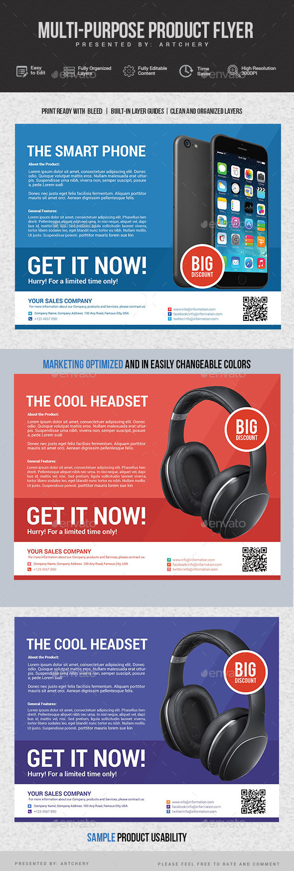 GraphicRiver Multiporpuse Product Flyer 11768238