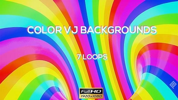 Color VJ Backgrounds 7 Pack