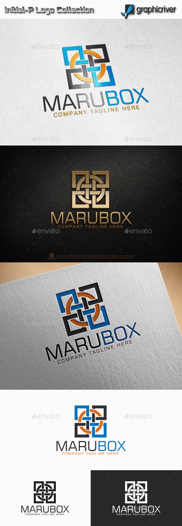 GraphicRiver Maru Box Circle Square logo 11772778