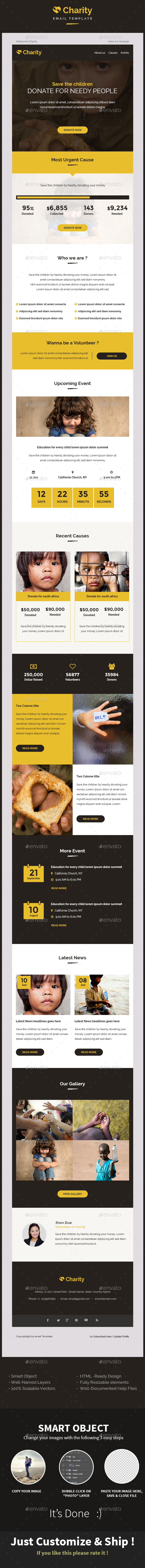 GraphicRiver Charity Nonprofit Email Template PSD 11772781