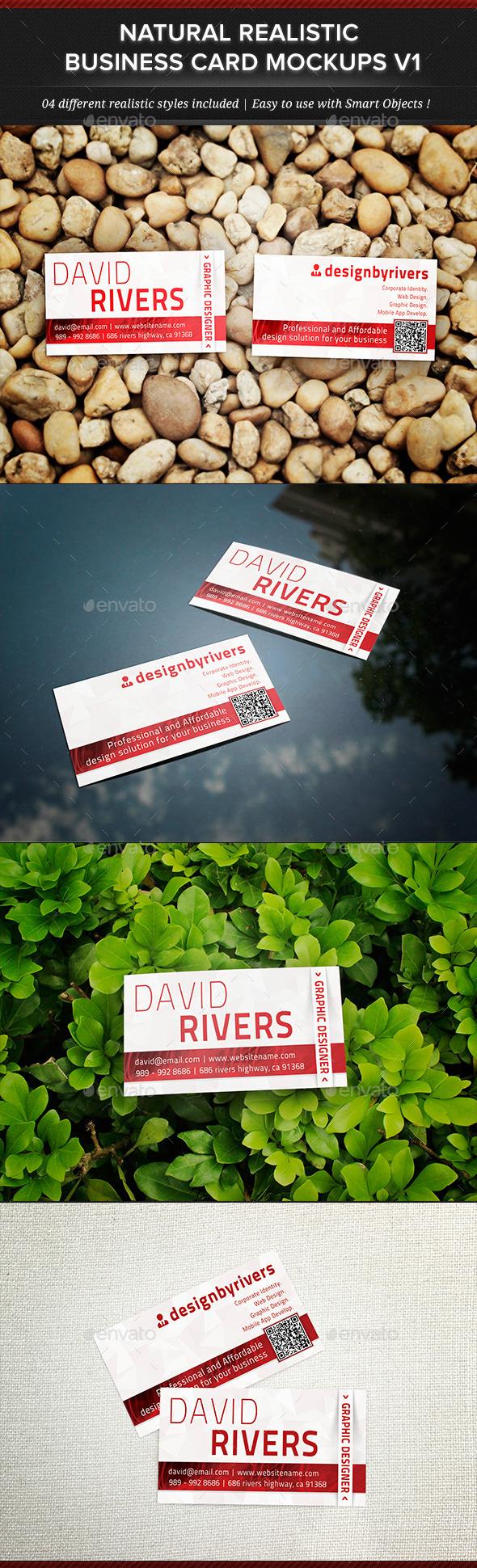 GraphicRiver Natural Realistic Business Card Mockup V1 11772812