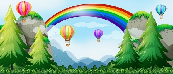GraphicRiver Rainbow and Balloons 11772851