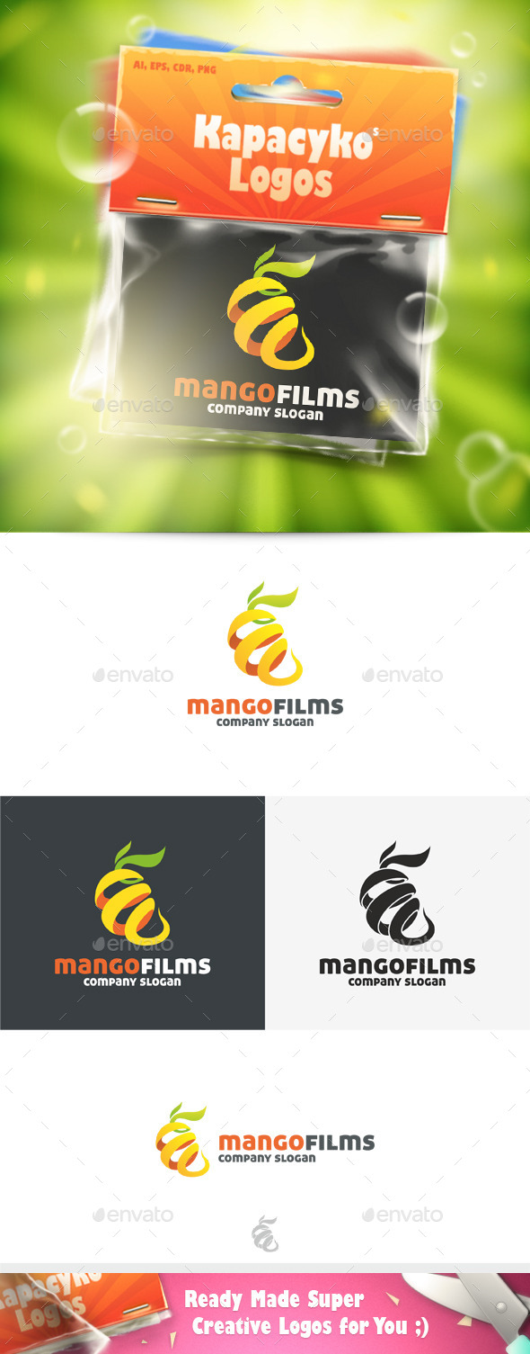 GraphicRiver Mango Films Logo 11772867