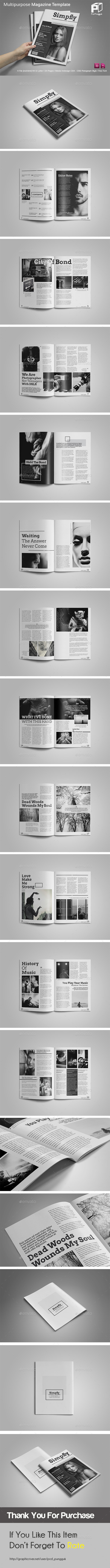 GraphicRiver Black & White Magazine 11772881