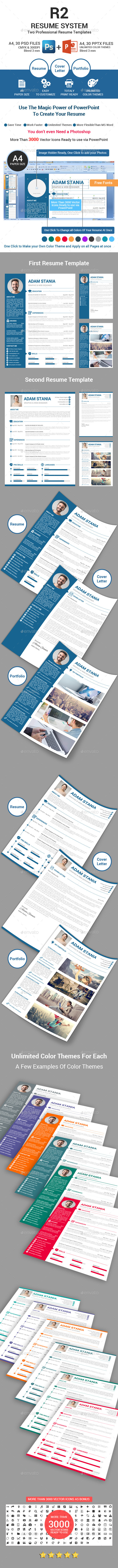 GraphicRiver R2 Resume Template System 11759151
