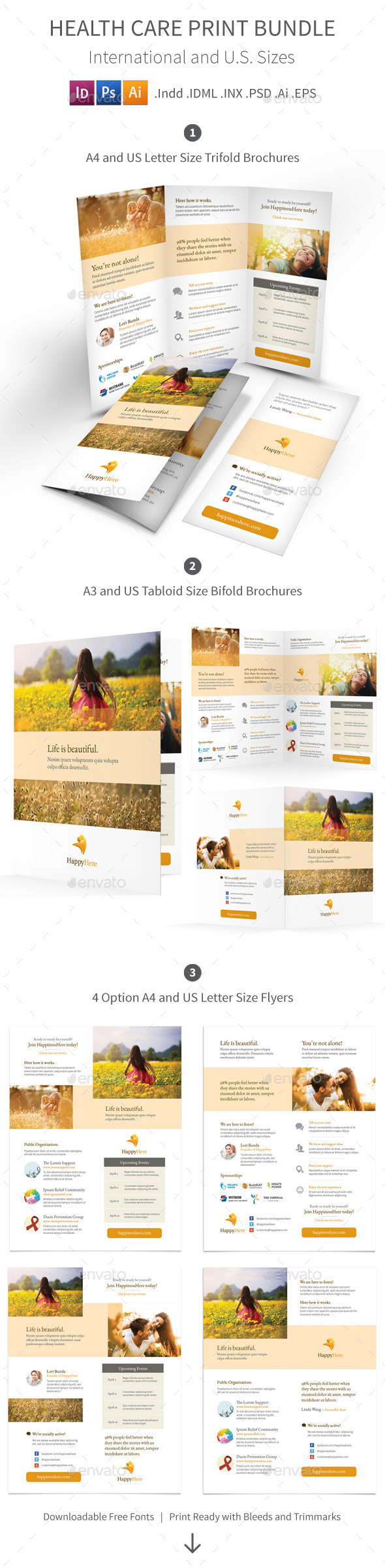 GraphicRiver Health Care Print Bundle 11772996