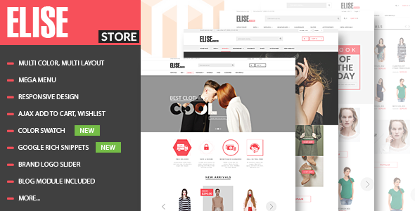 25 - Elise - Advanced Fashion Magento Theme + Blog