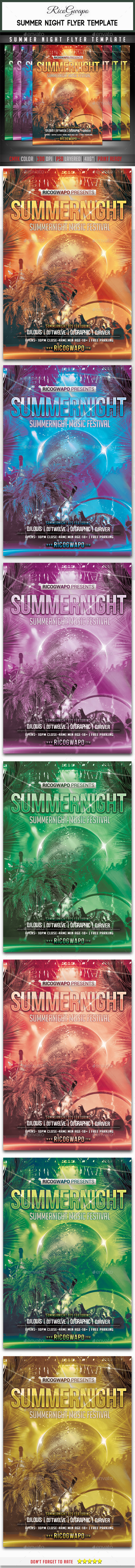 GraphicRiver Summer Night Flyer Template 11773124