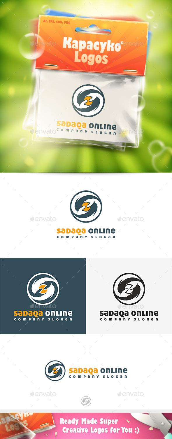 GraphicRiver Sadaqa Online Logo 11773141