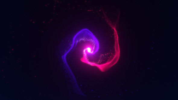 Organic Particle Swirls Ident